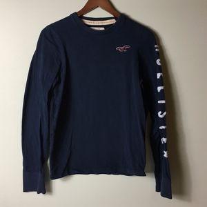 Hollister Men's S 100% Cotton Long Sleeve T-Shirt